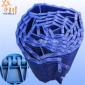 POM塑料输送链板加挡块 罐瓶子化工厂高耐磨耐碱性板式输送链
