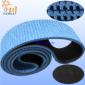 黑色片基带表面加蓝色橡胶花纹传送带 夹瓶机防滑耐磨传动皮带